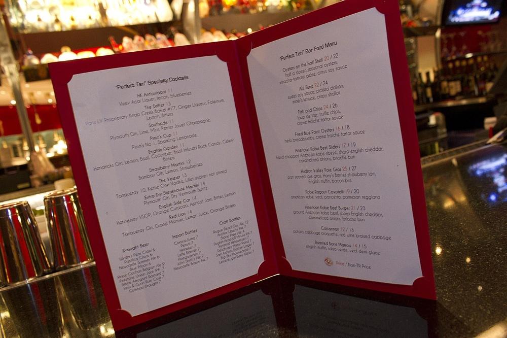 Diseño carta de restaurante