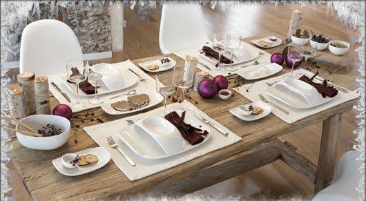 C mo montar la mesa en navidad 80 ideas for Como poner una mesa bonita