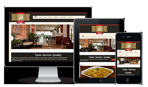 web de un restaurante