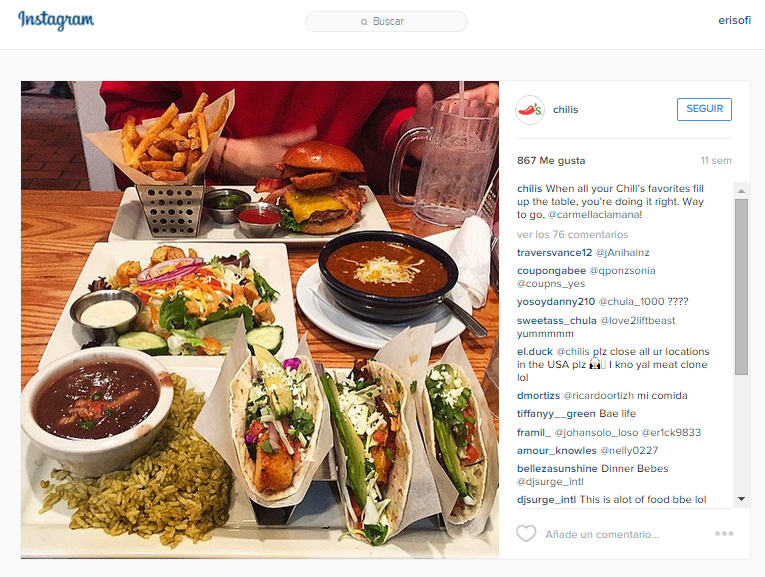 marketing para restaurantes en Instagram