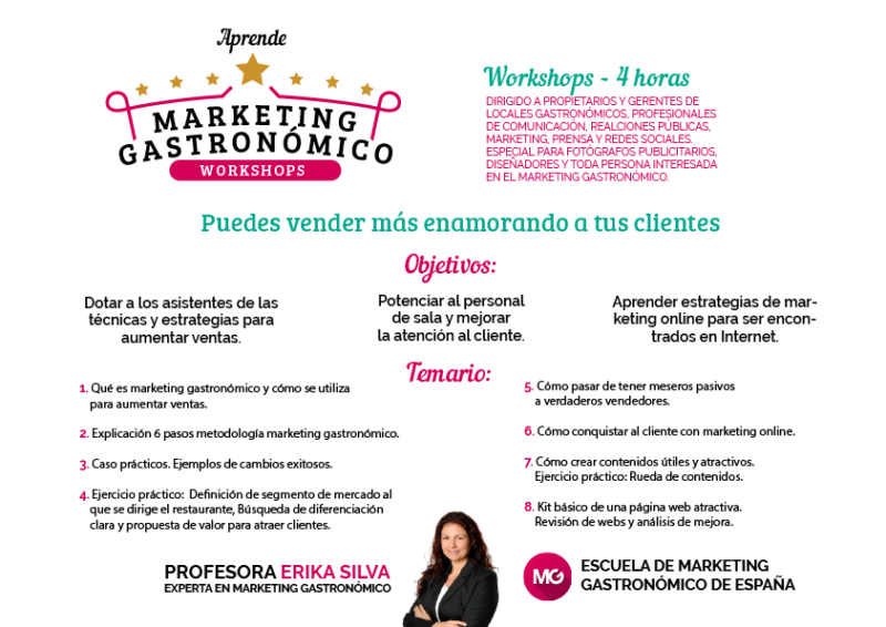 taller marketing gastronómico erika silva